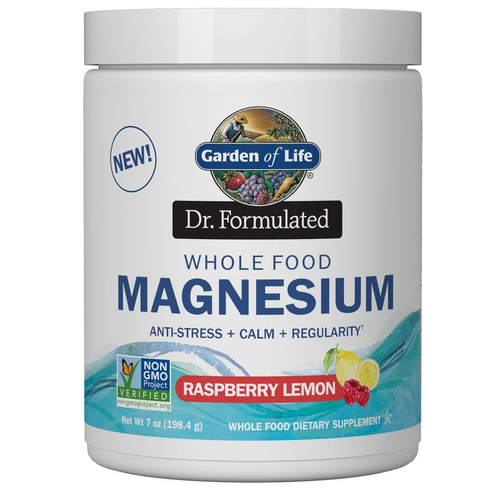 Garden of Life Dr. Formulated Whole Food Magnesium Raspberry Lemon