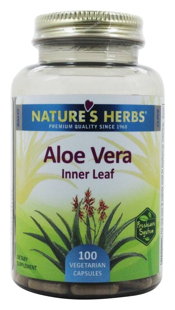 Nature's Herbs Aloe Vera Inner Leaf Dietary Supplement - 100 capsules