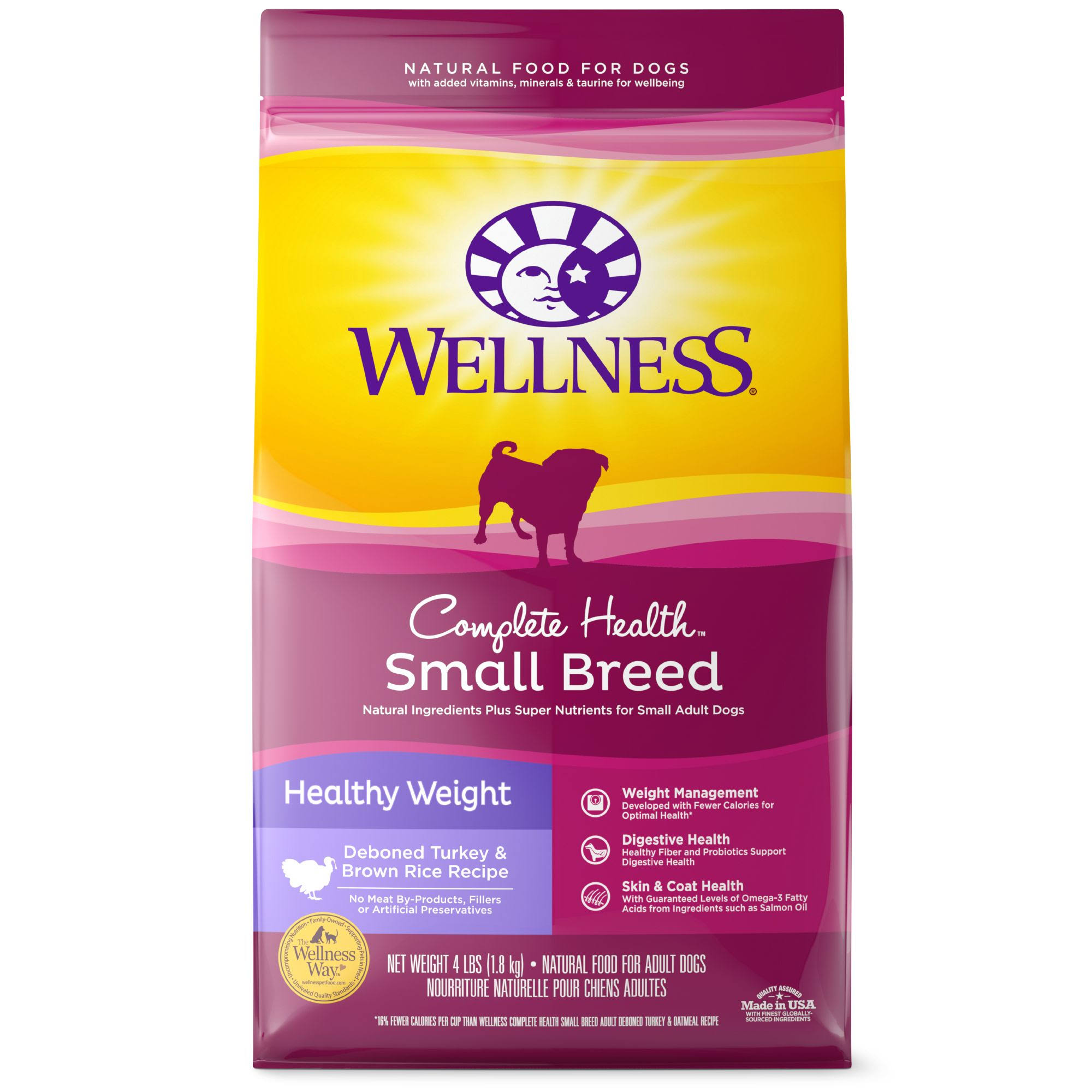 Wellness Small Breed Complete Health Dog Food - Healthy Weight Turkey & Brown Rice