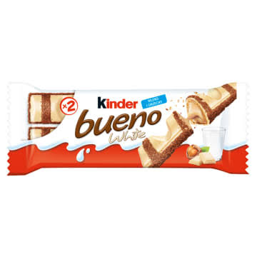 Kinder Bueno White Chocolate and Hazelnuts Single Bars - 19.5g