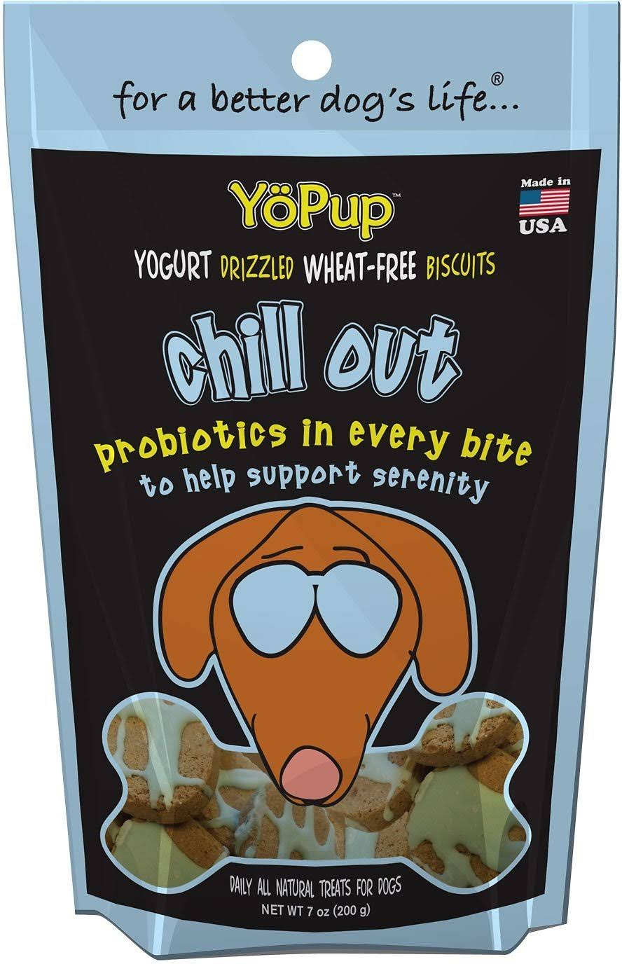 Yopup Chill Out Dog Treats - Yogurt Drizzled Wheat-free Biscuits