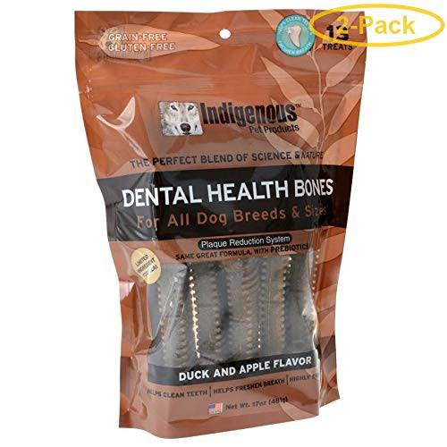 Indigenous Dental Health Bones - Duck & Apple Flavor - 13 Count