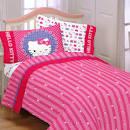 Hello Kitty Microfiber Kitty and Me Full Kid?s Character Sheet Set ... - Hello Kitty Bedroom Set
