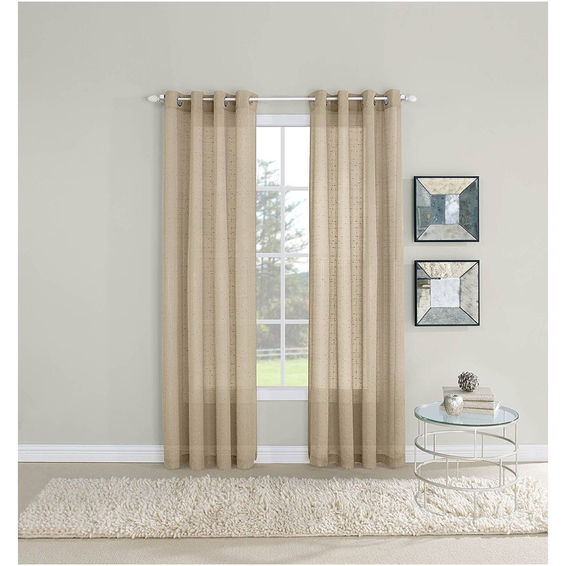 Twill & Birch Maze Sheer Grommet Curtain Panel