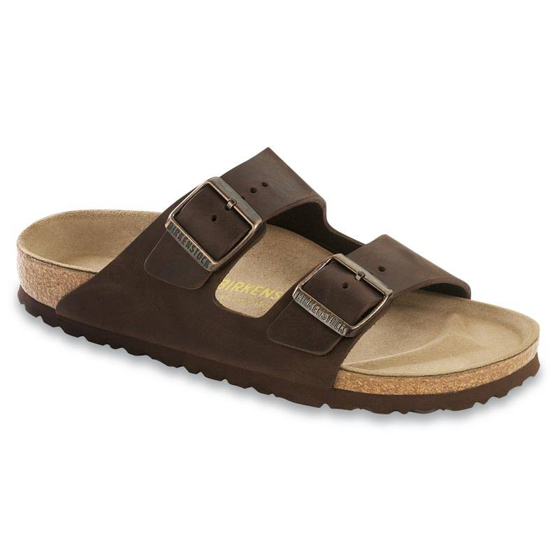 Birkenstock Unisex Arizona Sandals - Habana Oiled Leather, 43 EU
