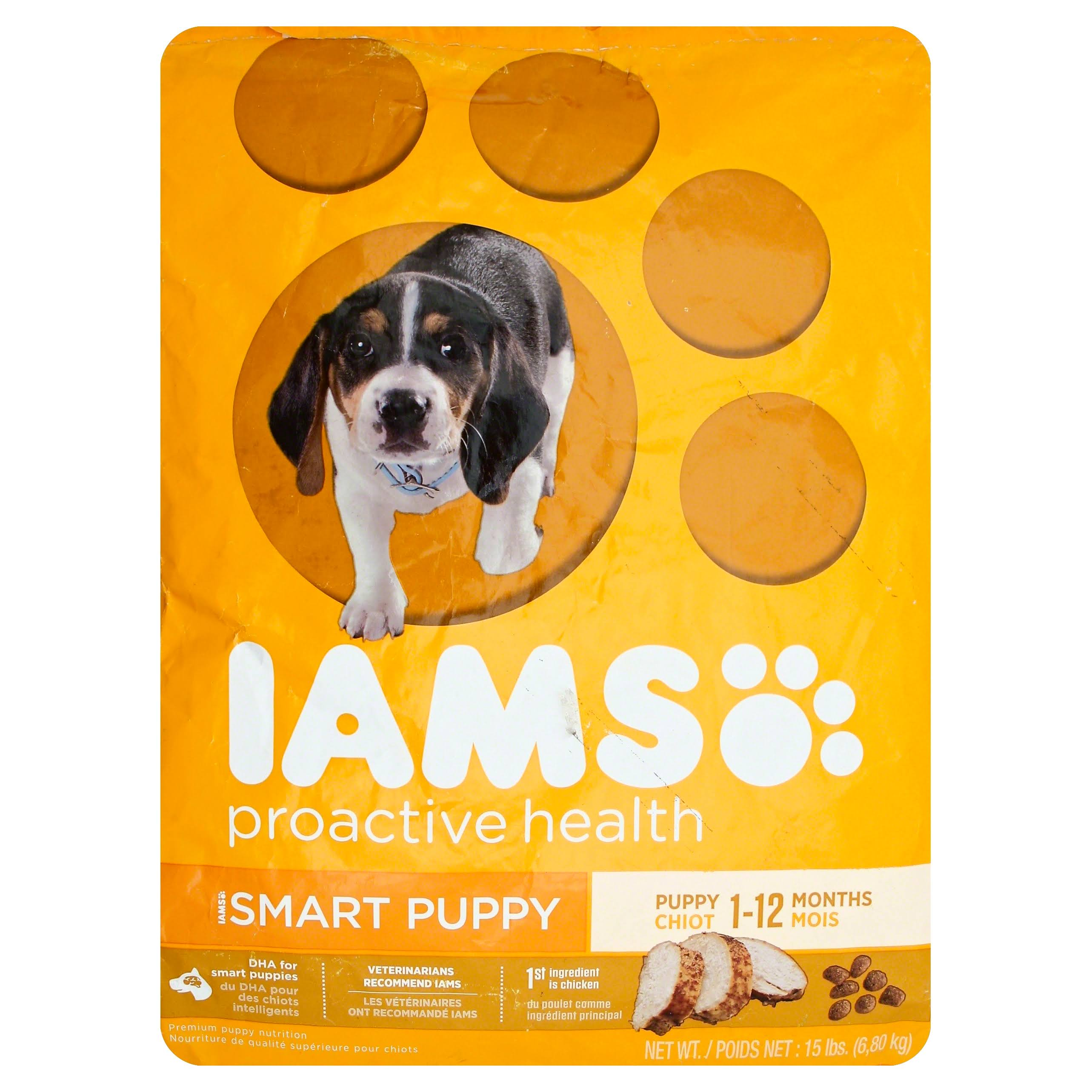 Iams Proactive Health Smart Puppy Premium Puppy Nutrition - 1-12 Months, 15lbs