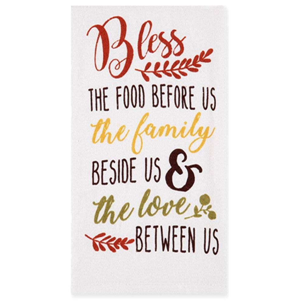 Ritz Bless The Food Dual Sided Kitchen Towel | Cotton Linen