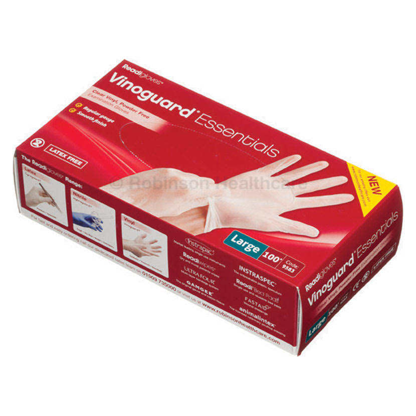 Vinoguard Essentials Vinyl Gloves x 100 - Large