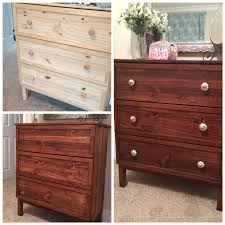 Ikea Tarva 6 Drawer Dresser by Simple U0026 Chic Ikea Tarva Makeover With Gel Stain Trim U0026 Mercury