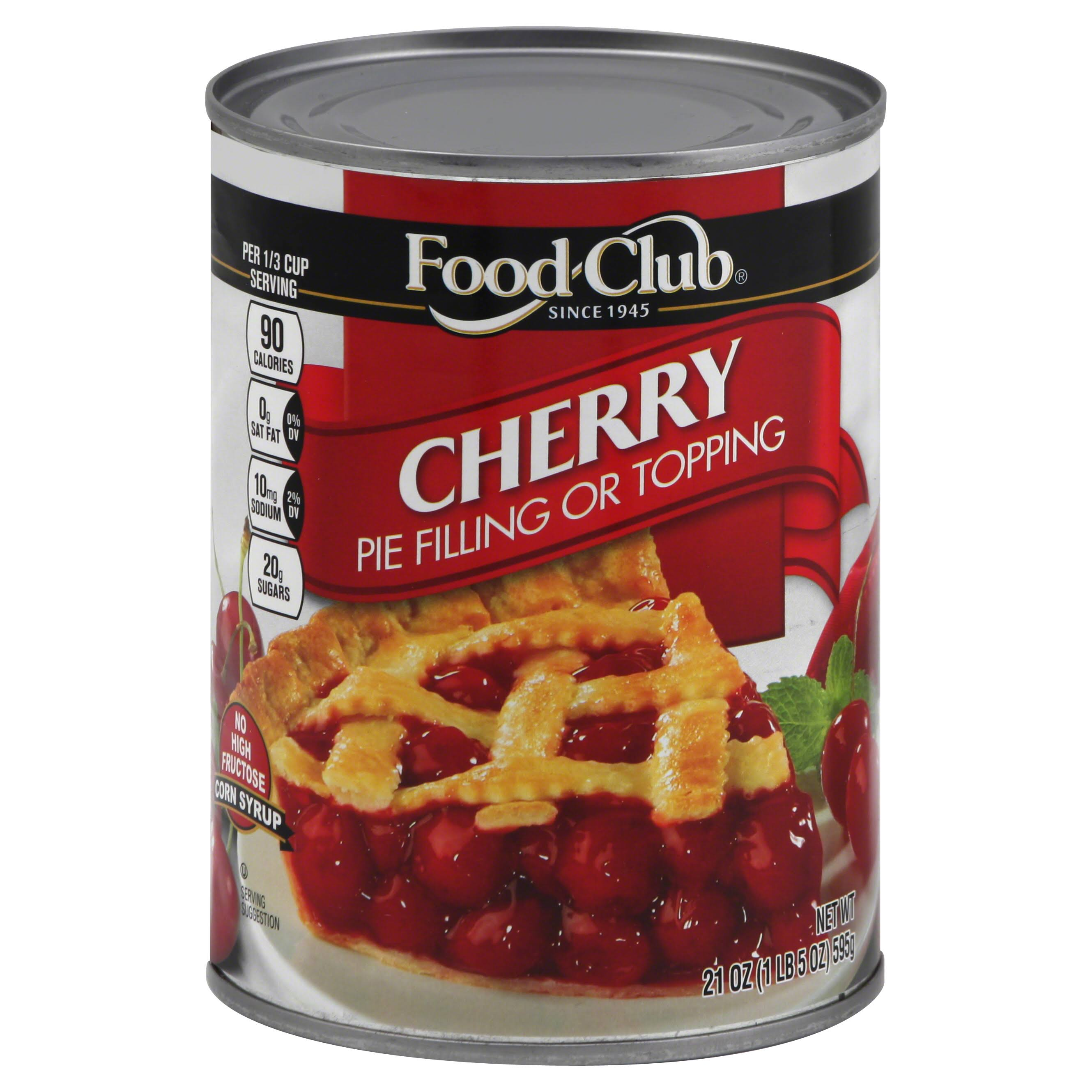 Food Club Pie Filling or Topping, Cherry - 21 oz