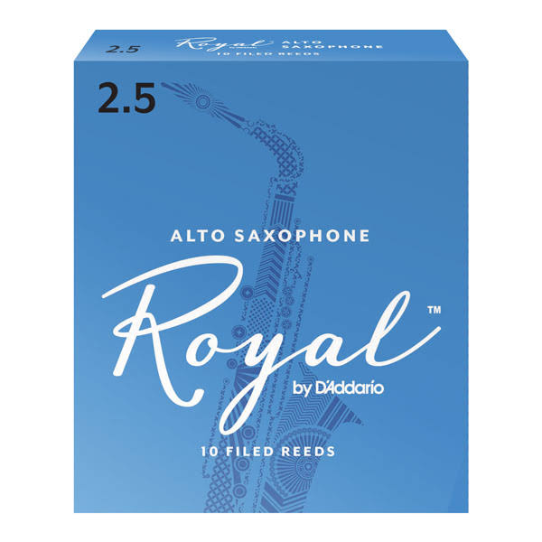 Rico Royal Alto Sax Reeds - Strength 2.5, 10 pack