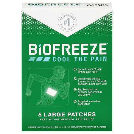 Biofreeze Patches, Large - 5 patches