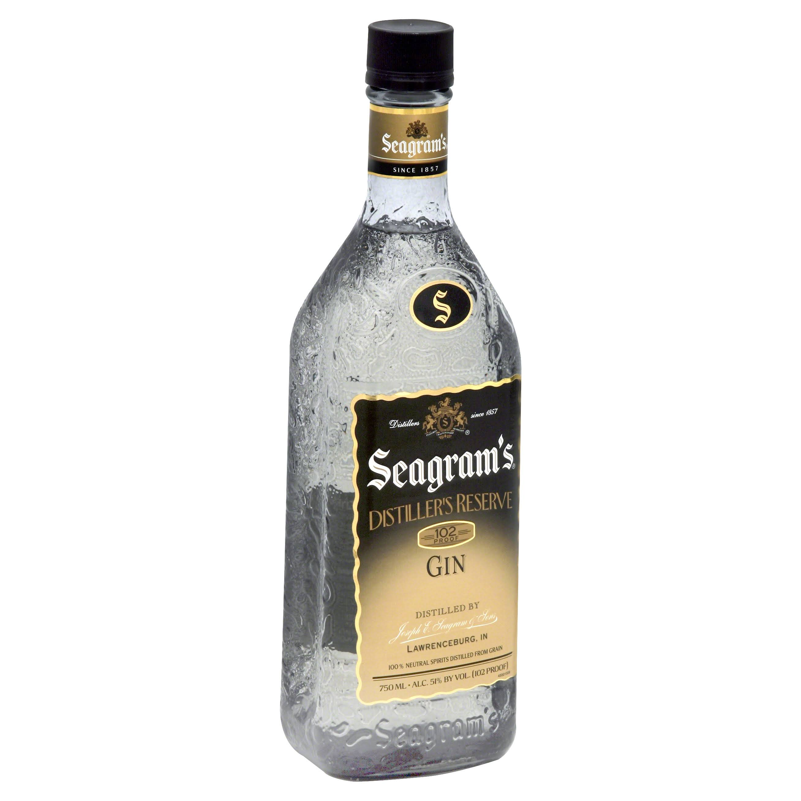 Seagram's Distiller's Reserve Gin, 102 Proof - 750 ml