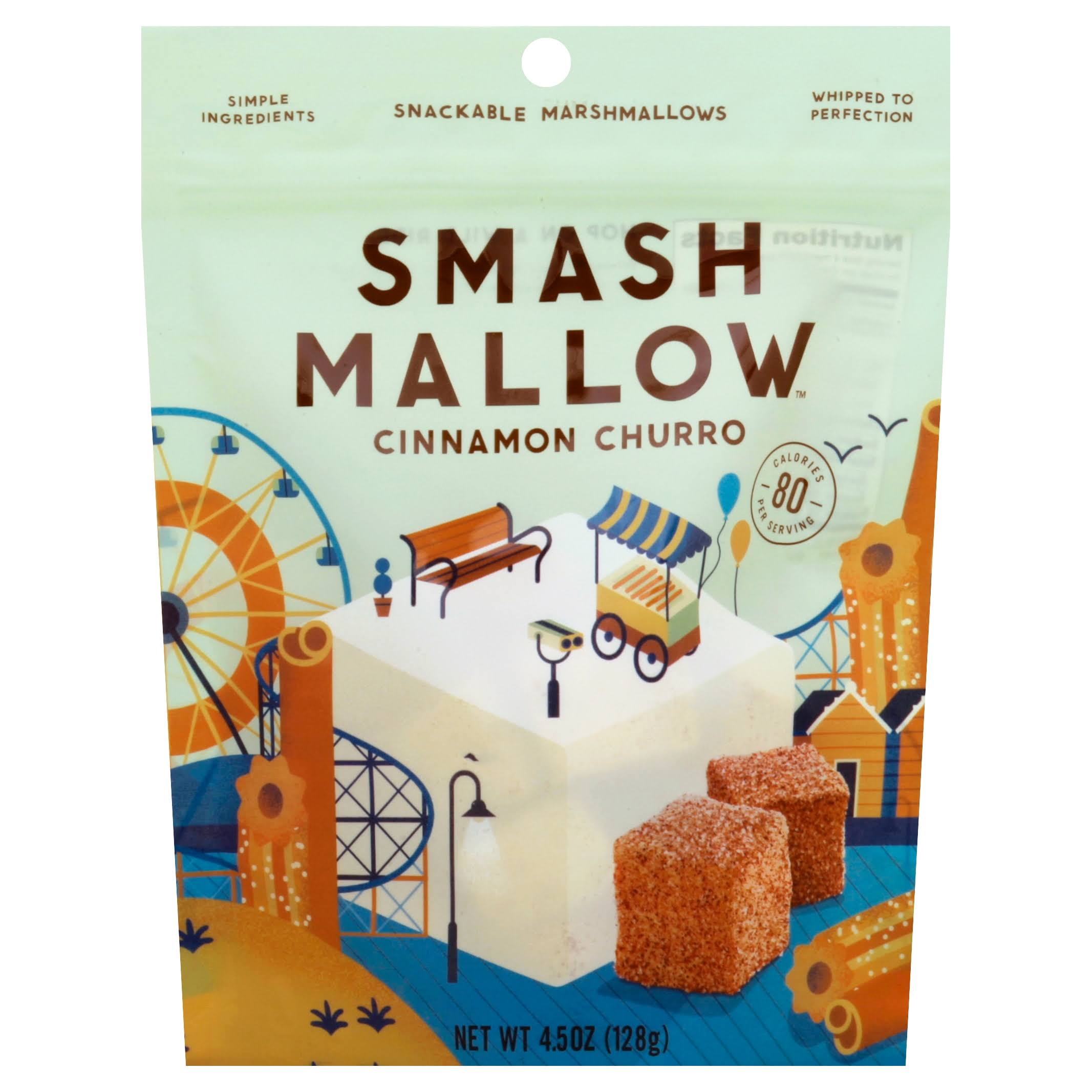 Smash Mallow Snackable Marshmallows - 4.5oz, Pack of 4, Cinnamon Churro