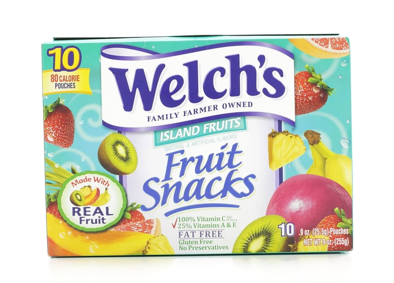 Welch's Fruit Snacks - Island Fruits, 0.9oz, 10ct