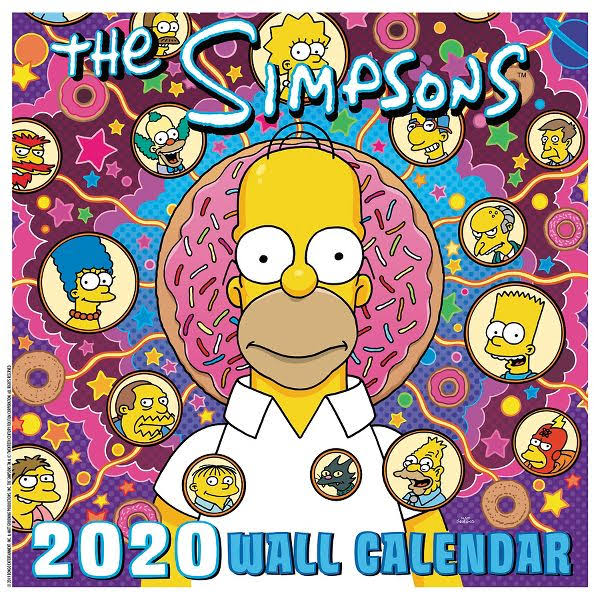 Mead The Simpsons 12x12 Monthly Wall Calendar - Wall Calendars Wall