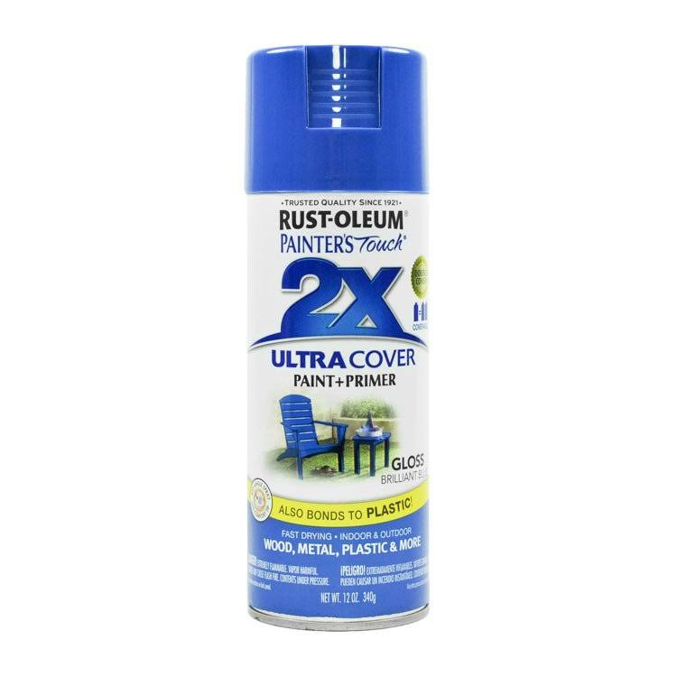 Rust-Oleum Painter's Touch Multi Purpose Spray Paint - Brilliant Blue, 12 oz