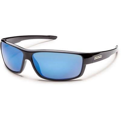 Suncloud Voucher Polarized Sunglasses Black Frame Blue Mirror Lens