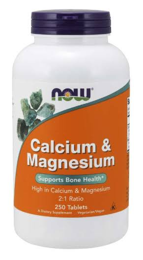 Now Foods Calcium and Magnesium Supplement - 250 Tablets