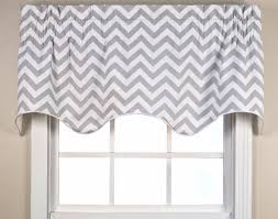 Pink Ruffle Curtain Topper by Reston Chevron Scallop Valance Thecurtainshop Com
