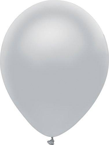 Pioneer Balloon Balloons - Shining Platinum, 10ct