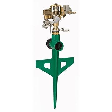 Dramm Colorstorm Stake Impulse Sprinkler - Green