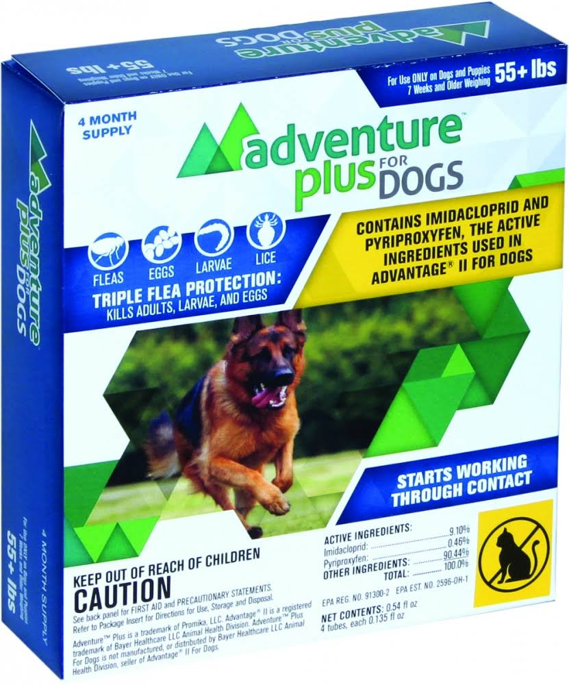 Adventure Plus Flea and Tick Insect Control for Dogs - X-Large Dogs, 4 Count