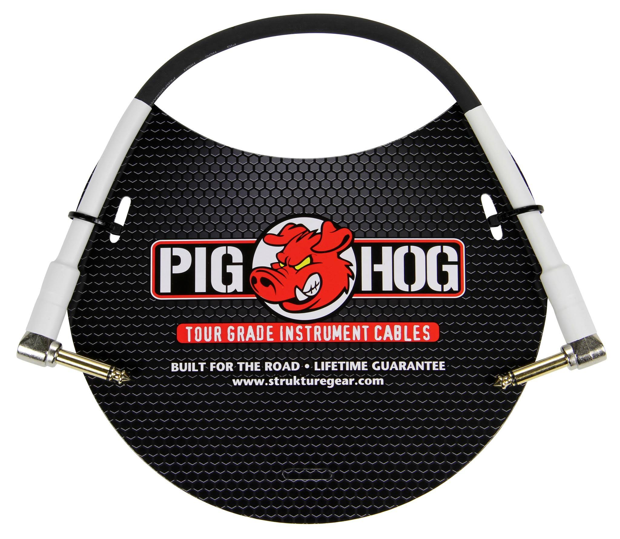 Pig Hog PH1RR 1ft 1/4 in. Right Angle - 1/4 in. Right Angle 8mm Instrument Cable