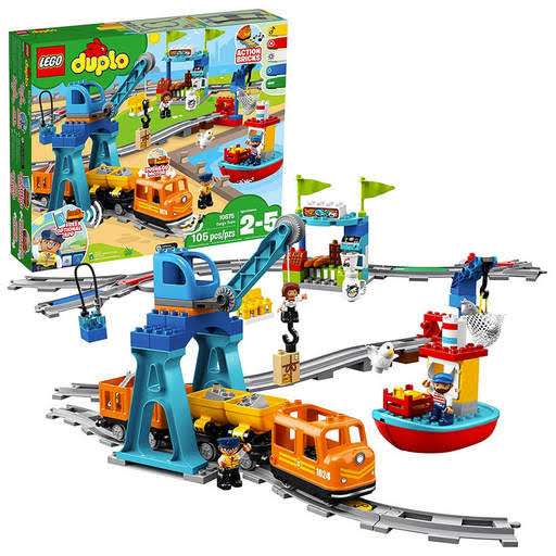 Lego Duplo Cargo Train Battery-Operated Building Blocks Set