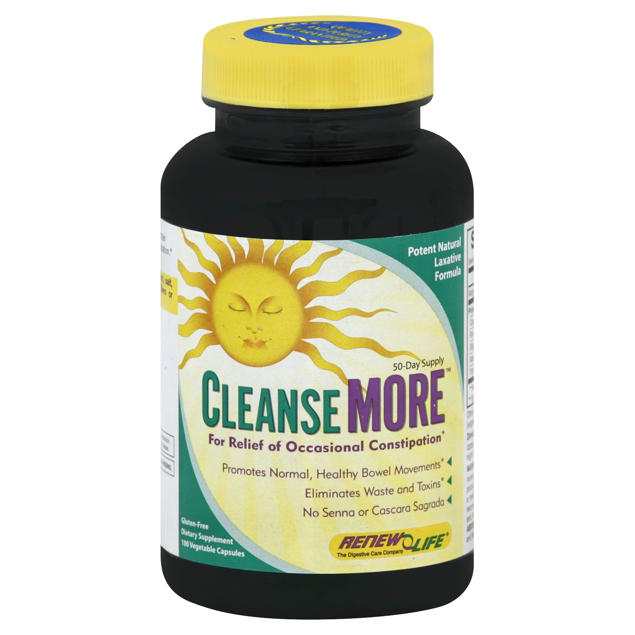 Renew Life Cleanse More Supplement - 100 Veggie Capsules