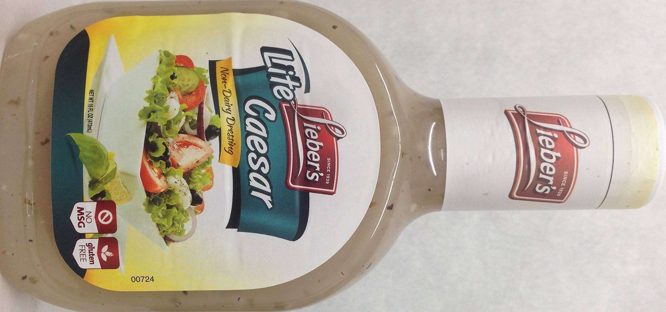 Lieber's Salad Dressing, Lite Caesar - 16 fl oz bottle