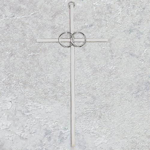 8 inch Cana Wedding Cross Silver