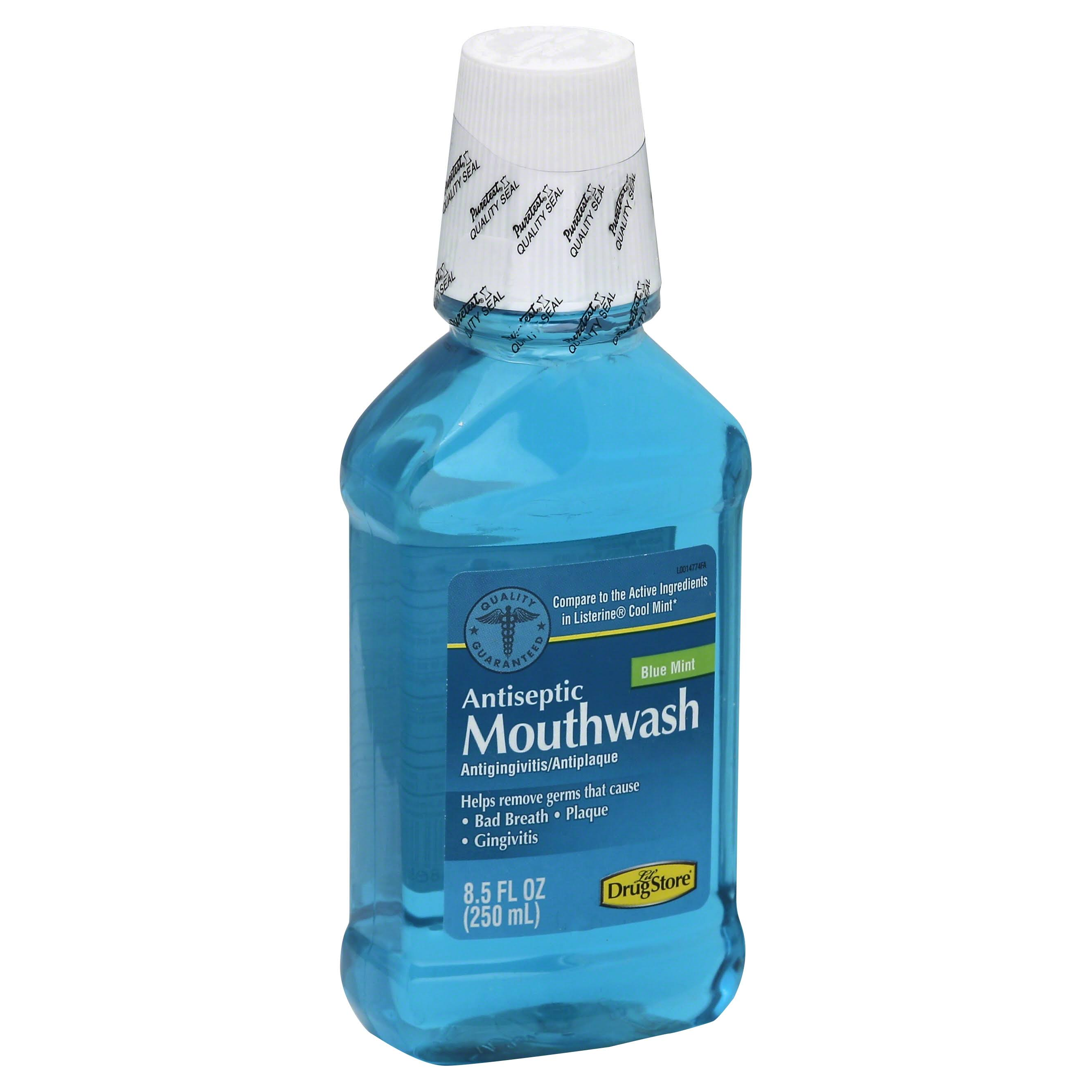 Lil Drug Store Mouthwash, Antiseptic, Blue Mint - 8.5 fl oz
