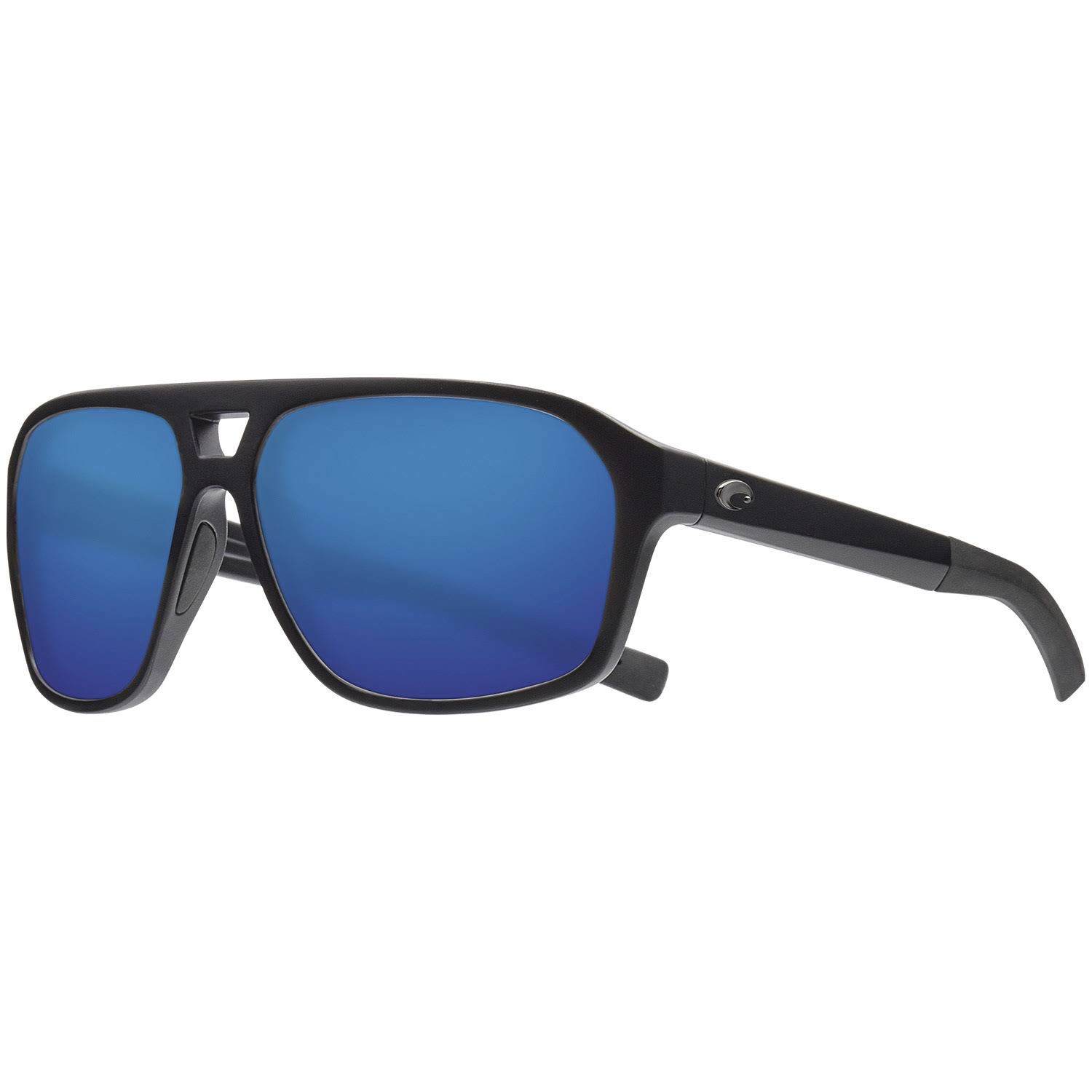 Costa Switchfoot Ocearch Polarized Sunglasses, Mens, Matte Black Blue Mirror