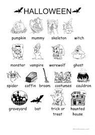 Haunted Halloween Crossword by Halloween Vocabulary Worksheet Free Esl Printable Worksheets