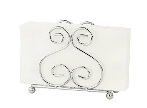 Home Basics Scroll Collection Napkin Holder - Chrome