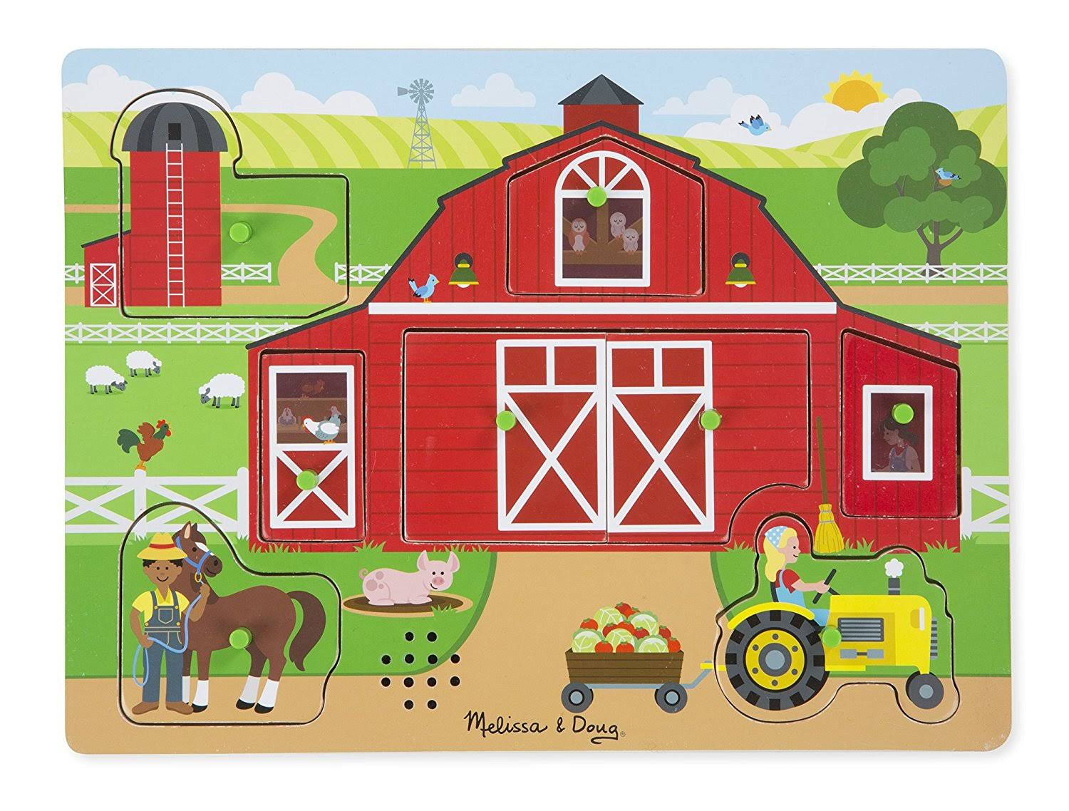 Melissa & Doug Around The Farm Sound Puzzle - 8 Pieces