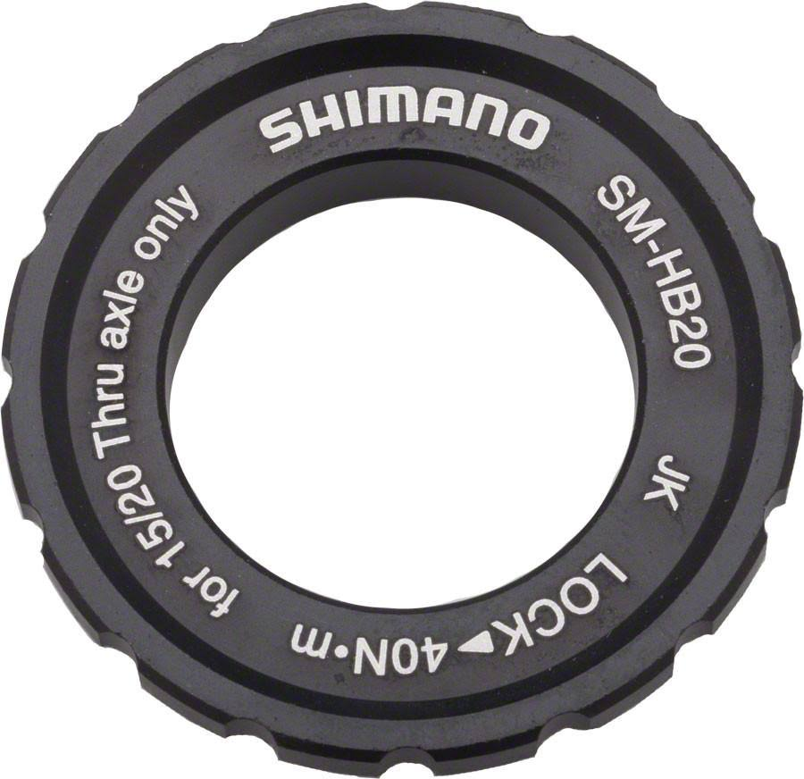 Shimano Bike Axle Hub Centerlock Disc Rotor Lockring - 15/20mm