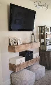 diy media shelves media shelf free woodworking plans and