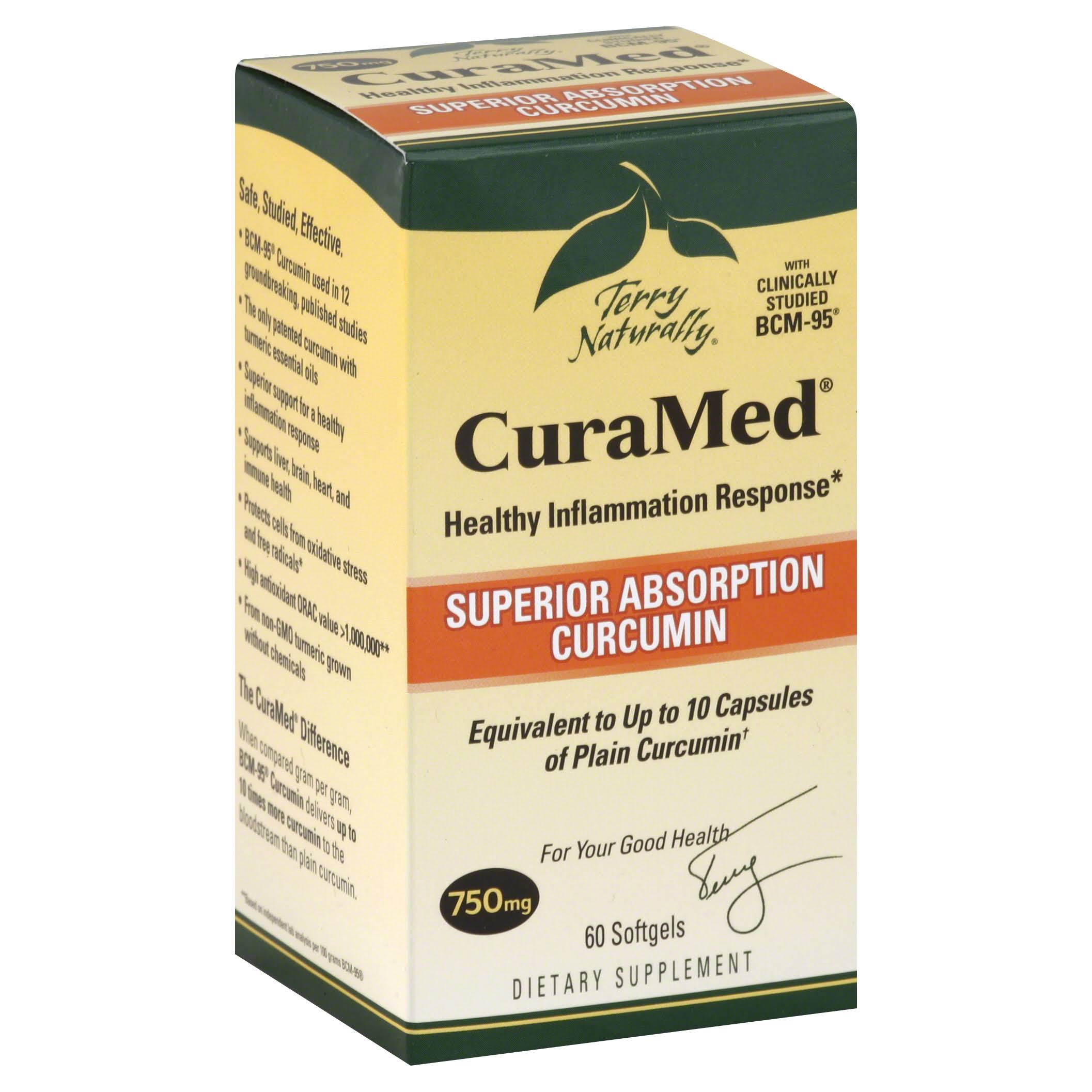 Terry Naturally CuraMed Curcumin BCM-95 - 60 Softgels, 750mg