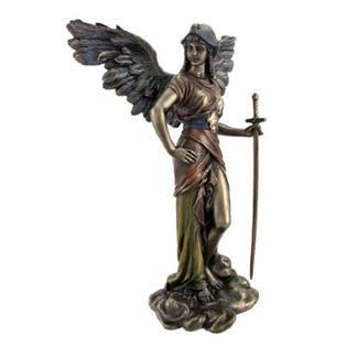 Statues Top Collection Archangel Gabriel in Cold Cast Bronze Figurine - Bronze, 12.5""