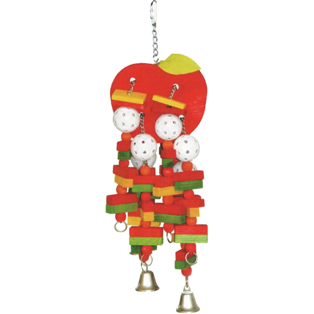 A&E Cage Company - HB Wooden Apple Toy - Multi / Large