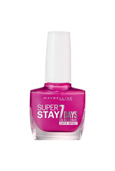 Maybelline Superstay 7 Days Super Impact Nail Color - 886 24/7 Fuchsia, 49g