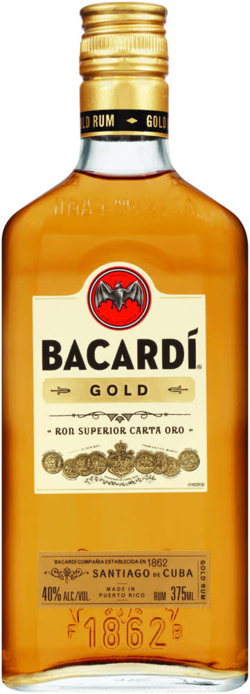 Bacardi Rum, Gold - 375 ml
