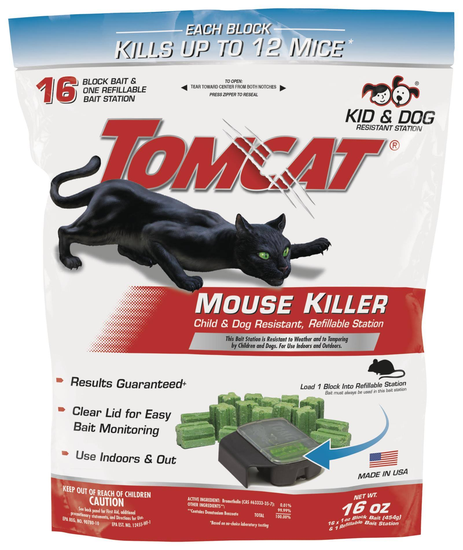 Tomcat Mouse Killer - 1 Refillable Bait Station, 454g