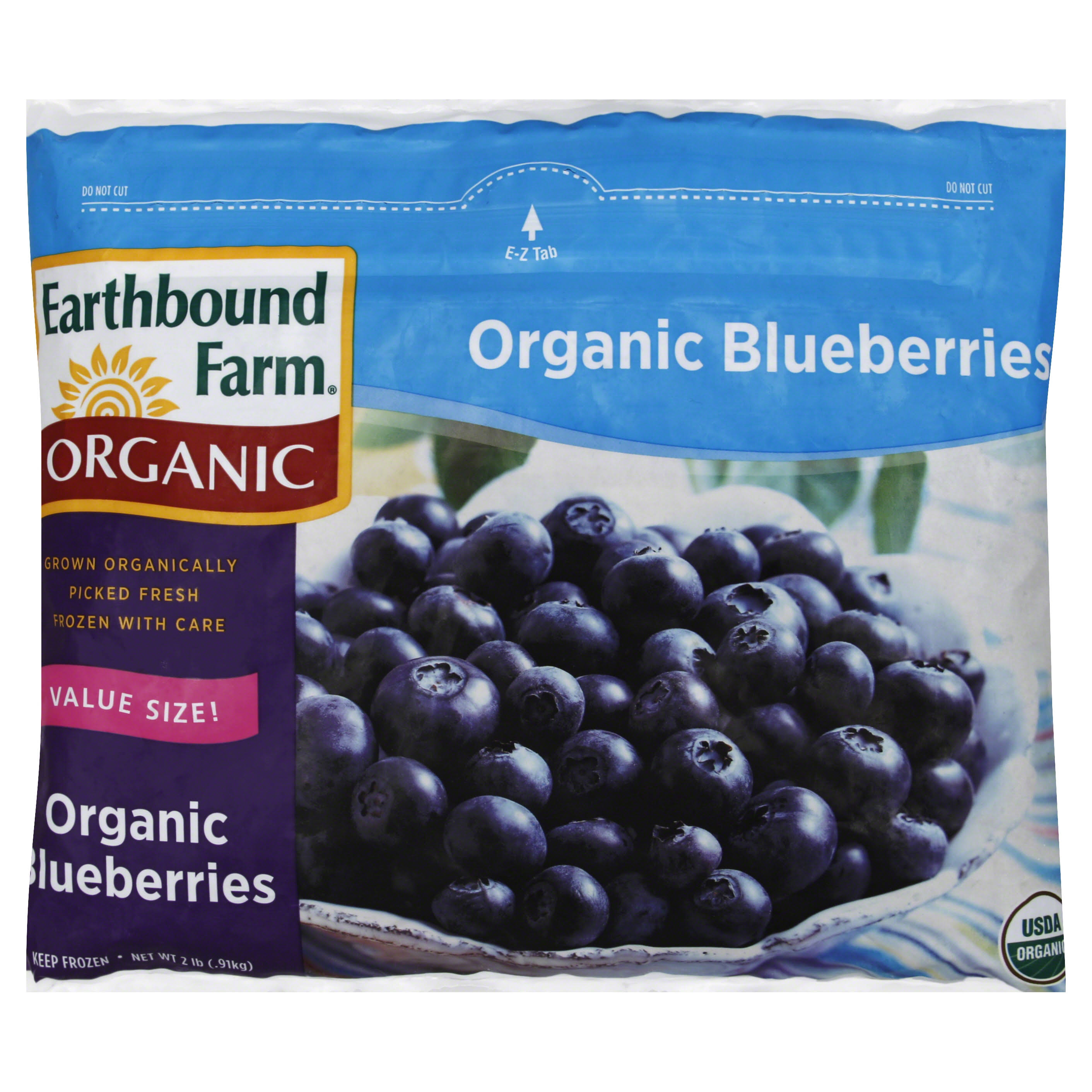 Earthbound Farm Organic Blueberries, Organic, Value Size - 2 lb