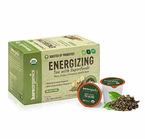 BareOrganics Energy Tea K-Cups 12 ct