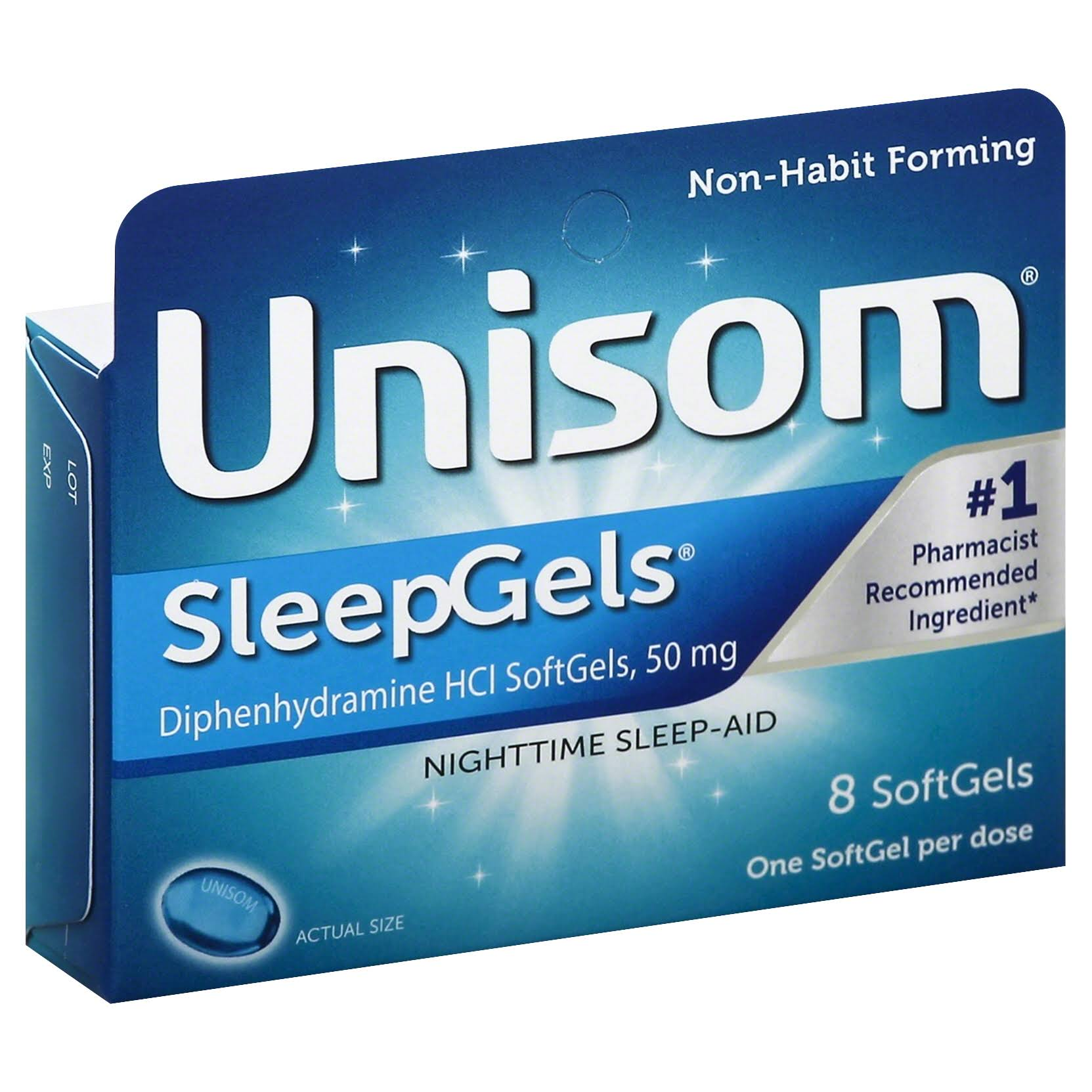 Unisom Nighttime Sleep Aid Gels - 8ct