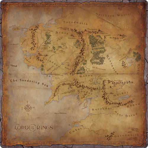 Fantasy Flight Games The Lord Of The Rings: Journeys In Middle Earth Playmat