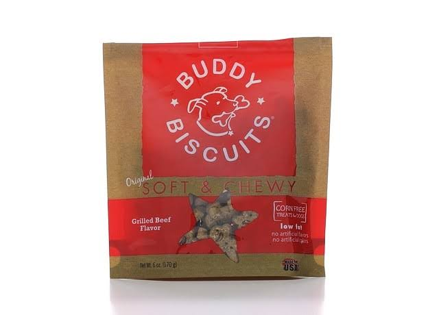 Cloud Star Buddy Biscuits Soft & Chewy Dog Treats - Grilled Beef, 170g